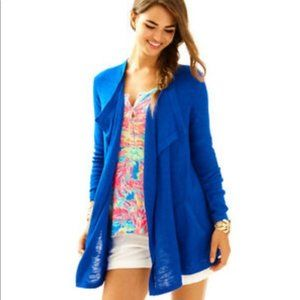 LILLY PULITZER Blue Chesapeake Cardigan Size XS